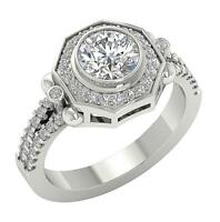 Solitaire Ring Natural Diamond I1 G 1.50 Ct 14K White Yellow Rose Gold 11.35 MM