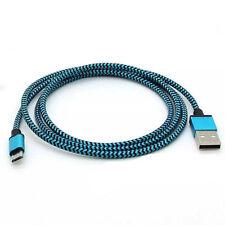 3ft Azul Micro USB Cargador Carga Datos Trenzado Sync Cable para Android Movil