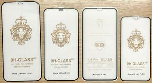 genuine tempered glass full screen protector cover for iPhone 12 series