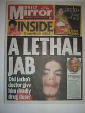 "MICHAEL JACKSON - ""Daily Mirror"" 27th June 2009 - 20 pages plus 12 page pullout"