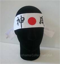 "Hachimaki Headband Martial Arts Sports ""KAMIKAZE"" Divine Wind Cotton /Made Japan"