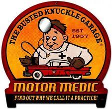 Motor Medic Round Banner Metal Sign