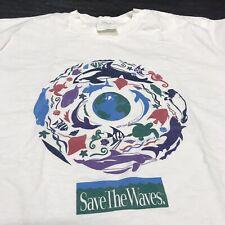 Vintage Save the Waves T-Shirt Men's XL Ocean Sea Fish Killer Whale Animals Tee