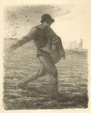 Jean-Francois Millet Reproduction: The Sower (Le Semeur) - Fine Art Print