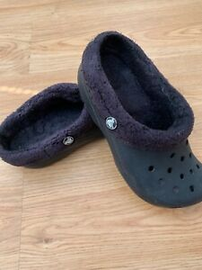Women's Crocs Mammoth Clogs in Black with liners UK 5 US Size W7 M5 / 99p UNISEX