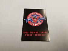 Vermont Expos 1998 Minor Baseball Pocket Schedule - Budweiser