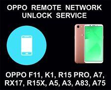 Oppo Remote Carrier, Network Unlock Service, F11, K1, R15 Pro, A7, RX17, R15X