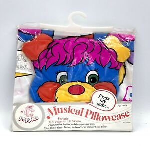 Vintage Popples Musical Pillowcase. Mint Condition. American Greetings, 1986.
