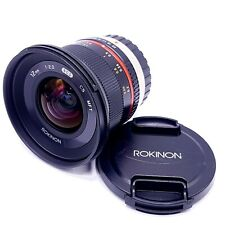 Rokinon 12mm F2.0 High Speed Wide Angle 12 f2 (MFT Micro Four Thirds) De-clicked