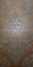 Designer Wallpaper Soft Sage Green Damask on Metallic Gold Background York