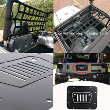 Tailgate Spare Tire Delete Plate & Roof Cargo Net Storage for Jeep Wrangler JK