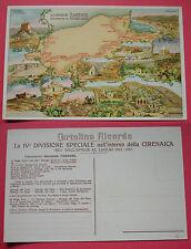 """CARTOLINA COLONIALE LA COLONNA """"TASSONI"""" ATTRAVERSO LA CIRENAICA  CAP. MAGO 1913"""