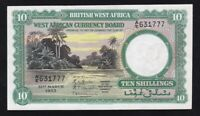 BRITISH  WEST  AFRICA ----- 10  SHILLINGS  1953 ----- VF+ --- HIGH GRADE --- RR