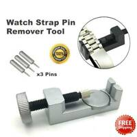 Metal Adjustable Watch Band Strap Bracelet Link Pin Remover Repair Tool Kit US