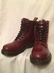 GENUINE DR MARTENS 1460 8 EYE RED OXBLOOD LEATHER LACE UP BOOTS UK 5 EU 38 US7