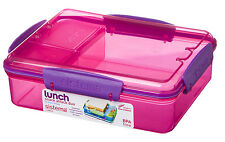 Sistema 975ml Multi Compartment Snack Attack Duo Lunch Box Container Pink