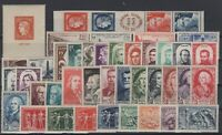 O136718/ FRANCE / LOT 1947 - 1949 MINT MNH FULL SETS CV 207 $