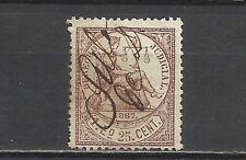 465A-SELLO CLASICO FISCAL COLONIA DE ESPAÑA AÑO 1867.1 ESCUDO 25 CENTIMOS.