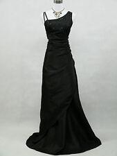 Cherlone Clearance Black Ballgown Formal Wedding Evening Bridesmaid Dress 12-14