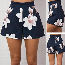 Vintage Women High Waist Shorts Summer Beach Wear Casual Floral Ladies Hot Pants