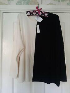 WynneLayers Soft Yarn Unstrcutured Colourblock Sweater. Black. Size S BNWT