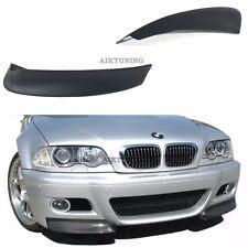 BMW E46 M3 CSL Front Bumper Apron Addons Corner Splitter Lip Valance Spoiler Set