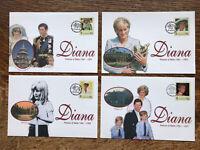 St Helena 1998 Fdc's DIANA Princess Of Wales, Set Of 4