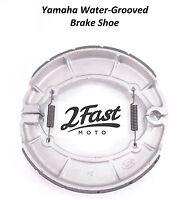 Water Grooved Rear Brake Shoe Shoes Yamaha XV XJ 650 700 Seca Virago V-Star Drag