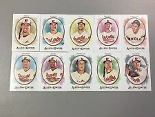 2017 Topps Allen & Ginter Baltimore Orioles Team Base SP Set 10