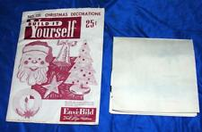 VTG 1952 EASI BILD XMAS DIY WOODWORKING & CARDBOARD XMAS DECORATIONS CRAFTS