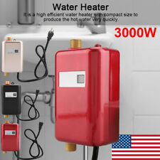 3000W Mini Instant Electric Tankless Hot Water Heater Shower Kitchen Bathroom US