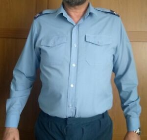 ROYAL AIR FORCE RAF mans long sleeve shirt SIZE 42 with Sgt epaulettes