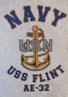 USS FLINT  AE-32* AMMUNITION SHIP * U.S NAVY W/ ANCHOR* SHIRT