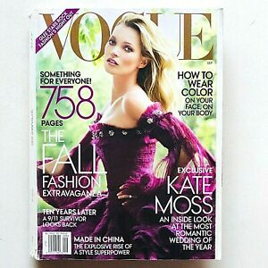 US Vogue magazine USA september 2011 settembre Kate Moss Wedding Mario Testino