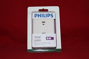 Philips Wall Plate. 2 x Telephone or Modem Connectors. (SDJ6040H/17)