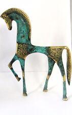 STATUE HORSE GEOMETRIC ERA GREECE ANCIENT BRONZE MUSEUM REPLICA (123)