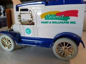 ERTL 1913 FORD MODEL T BANK CALUMET PAINT NEW NIB E1724