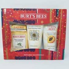 Burt's Bees Face Essentials Holiday Gift Set, 4 Skin Care Products NEW