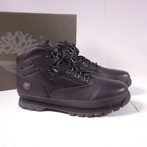 Timberland Euro Hiker Leather Boots Black