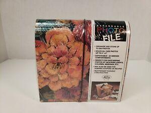 LaVie Expandable Photo File Flowers Floral Design PA314 Photo Album 4x6 Pictures