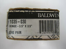 Pair of Baldwin 3.5� x 3.5� Solid Brass Hinges #1035-030 – New