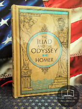 NEW SEALED The Iliad & The Odyssey by Homer Collectible Bonded Leather Hardcover