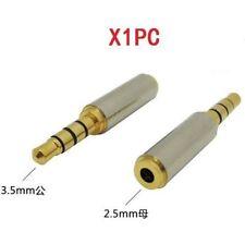 3.5mm Male to 2.5mm Female Stereo Audio Mic Earphone Jack Adapter Converter ☆