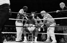 Old Boxing Photo Tyrell Biggs Rests In His Corner Against Mike Tyson