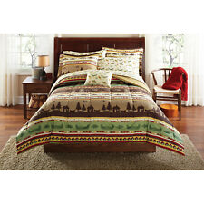 """""""Gone Fishing"""" Bed in a Bag Coordinated Bedding Set Comforter Sheets Sham Pillow"""