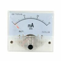 DC 0-30MA Analog Current Panel Meter Ammeter 85C1 30MA, White W6N2