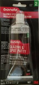 3M BONDO 907 GLAZING AND SPOT PUTTY, 4.5 fl oz Tube