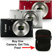 Canon Powershot IXUS 185 / ELPH 180 20mp Red Silver or Black with Free IXUS Case