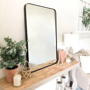 "Rectangle Rounded Corner Framed Mirror - 24"" x 36"""