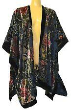 TS TAKING SHAPE One Size Fits All Vintage Flower Cape velvety sheer light NWT!
